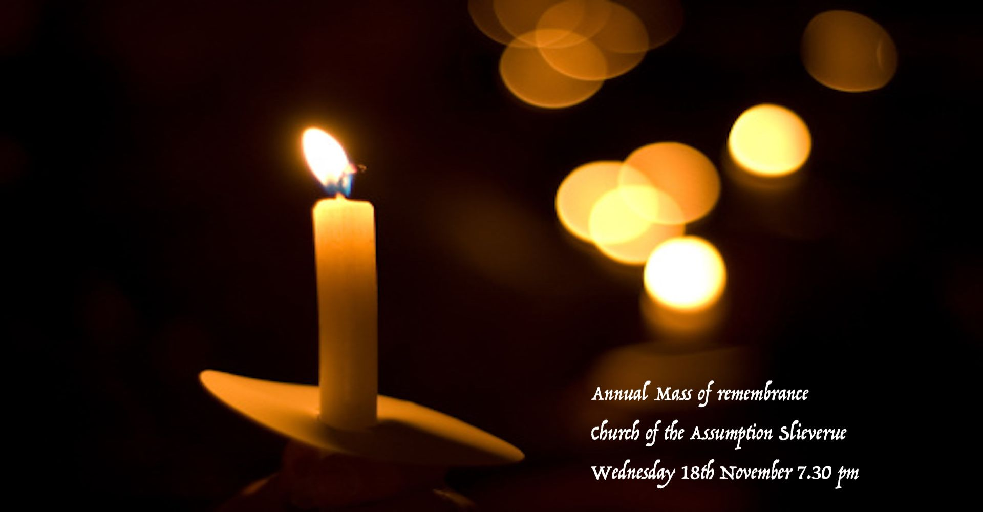 Annual Mass of Remembrance from Slieverue Wednesday 18th November 2020